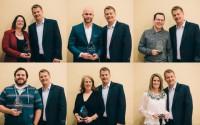 Employee Award Winners 2015 holiday party